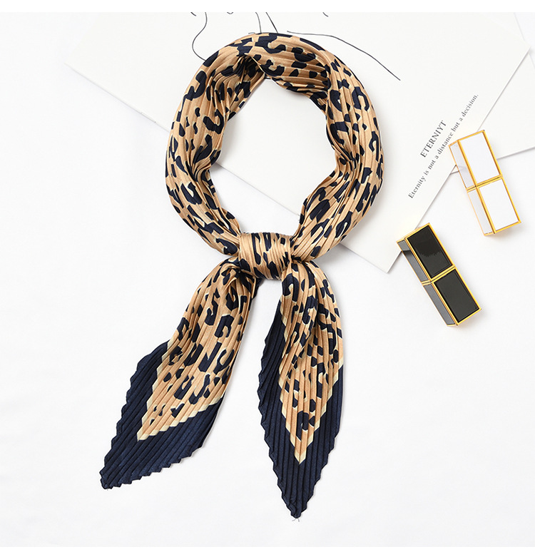 Yishine 5 colors Wrinkle Neck   Scarf   Women Sexy Leopard Prints Fashion Crepe Kerchief   Scarves   New Headband Crumple Handlebag   Wrap