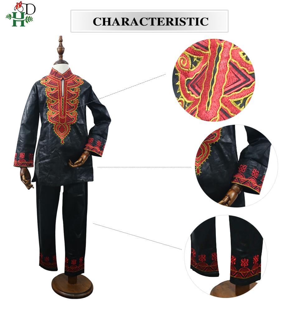 Image 5 - dashiki kid set 2019 african clothing kids boy south africa boys embroidery tops pant suits autumn outfit  TZ8006-in Africa Clothing from Novelty & Special Use