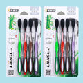 Toothbrush Free Shipping Bamboo Charcoal Toothbrush 8 Pcs Sets Nano Brush Oral Care 625 Nano-antibacterial Toothbrush Black Hea