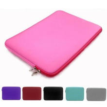 15″ Hot Portable Soft Laptop Bag Genery Notebook Liner Sleeve Handle Computer Zipper Bag Tablet PC Pouch Case For 15 inch Oc26