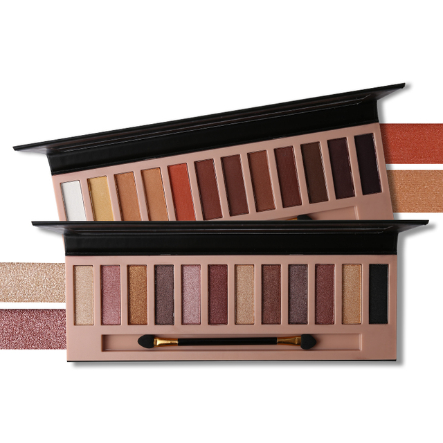 Pro 12 Colors Shimmer Or Matte Eyeshadow Makeup Palette Long Lasting Eye Shadow Natural Eyeshadow With Brush
