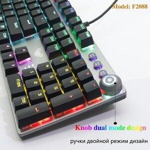 Image 5 - AULA PC Mechanical Keyboard 104 keys USB MIX LED Backlit Black Blue Red Switch for Russian Spanish Hebrew Arabic gaming Keyboard