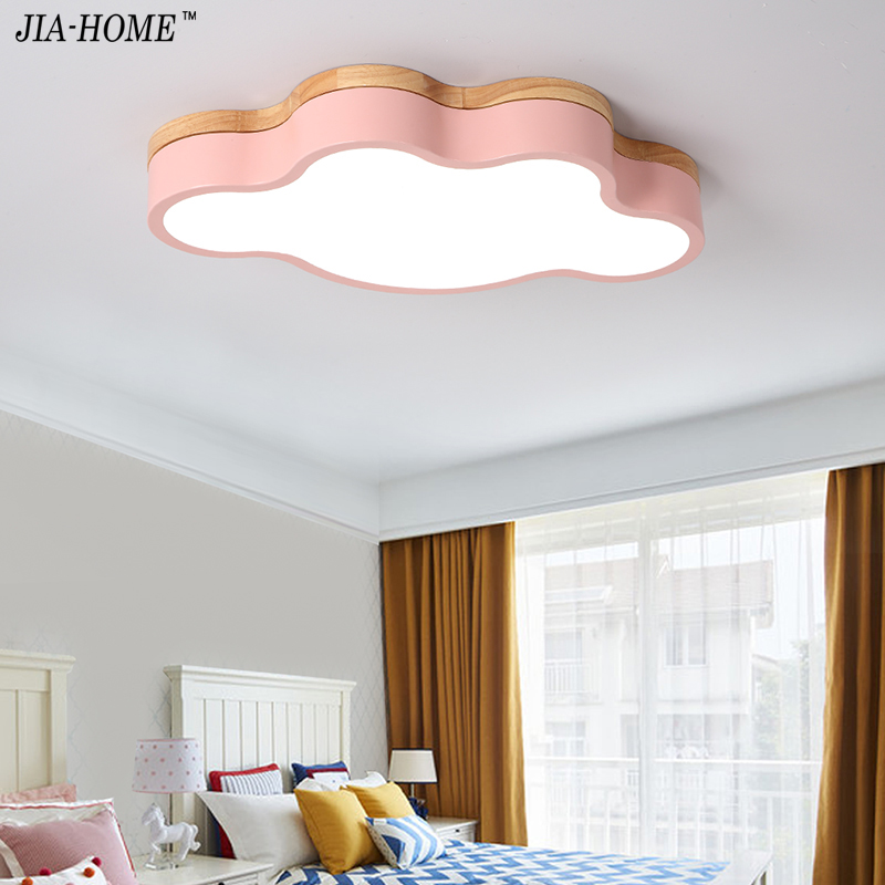 Macaron Color LED Ceiling Lights For Child room Living Room cloud shape With Remote Control Ceiling