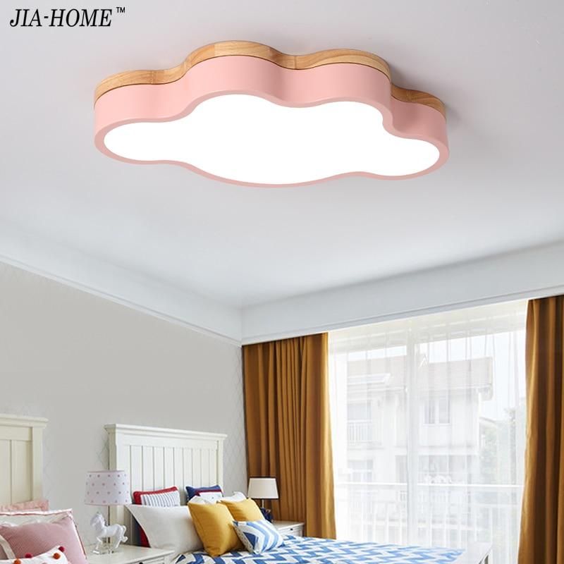 Elegant Macaron kolor DOPROWADZIŁY Lampy Sufitowe Dla Dzieci pok³j Dzienny chmura kształt Z Pilotem Lampy Sufitowe Oprawy Lovely - Cool lighting protection New