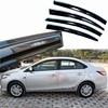 4pcs Windows Vent Visors Rain Guard Dark Sun Shield Deflectors For Toyota Vios 2014