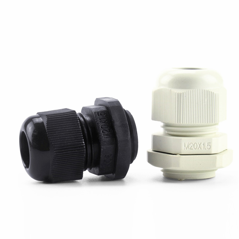 20pcs/bag IP68 <font><b>M20x1.5</b></font> for 6-12mm Cable Waterproof Nylon Plastic Cable Gland Connector image
