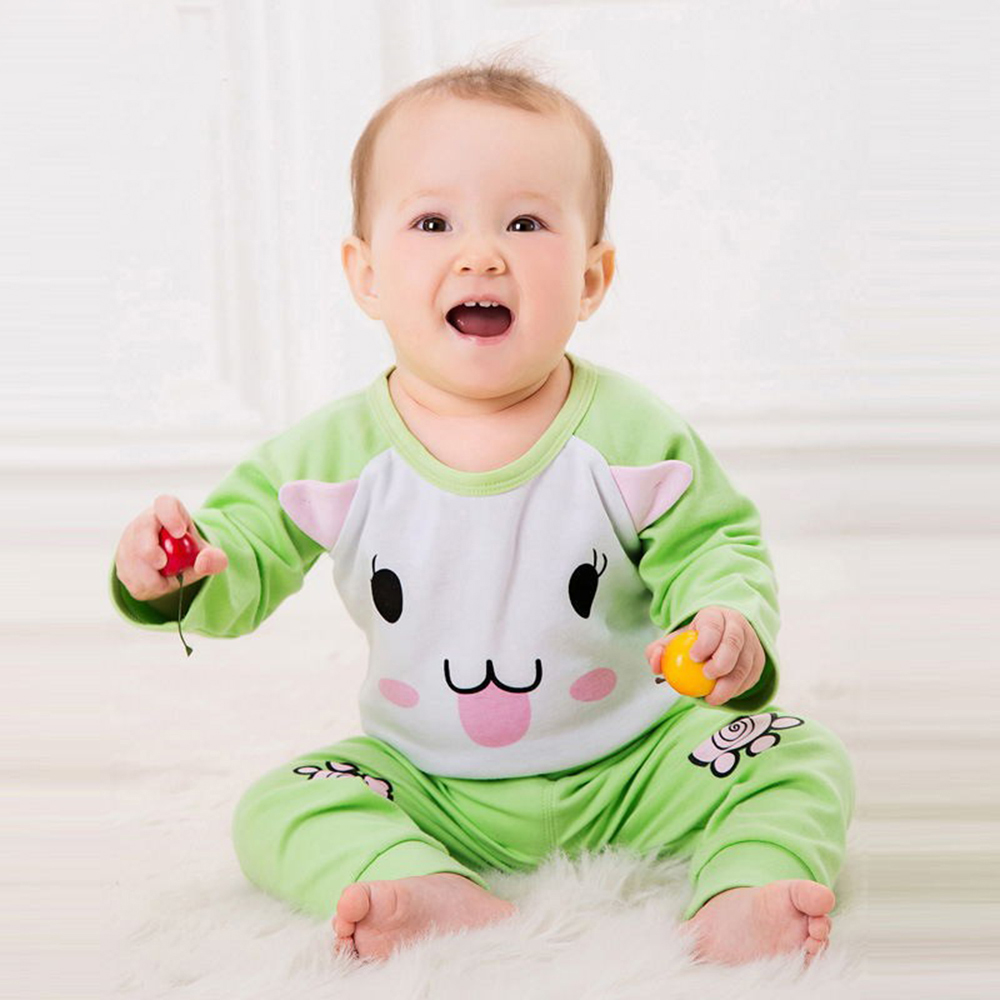 Newborn Baby Girl Clothes Spring Autumn Baby Boy Clothes Set Cotton Kids Infant Clothing Long Sleeve Cartoon Romper Pant Outfits he hello enjoy baby rompers long sleeve cotton baby infant autumn animal newborn baby clothes romper hat pants 3pcs clothing set