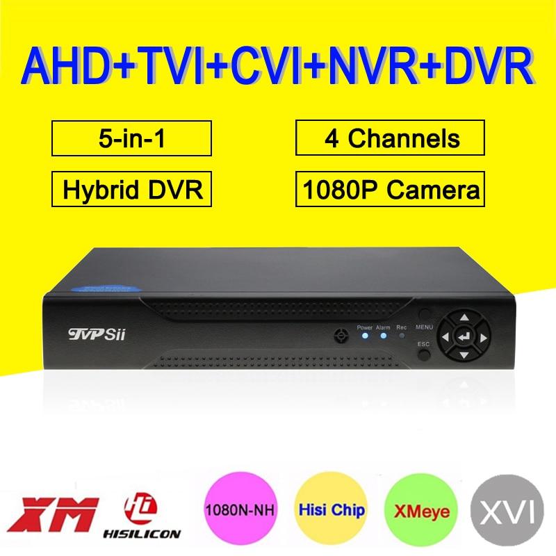1080P CCTV Camera XMeye Hi3520D 4 Channel 4CH 1080N 25fps 56 in 1 Hybrid Coxail NVR TVI CVI AHD DVR Surveillance Video Recorder