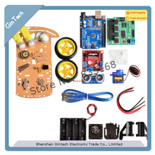 NEUE ANKUNFT tracking Motor Intelligente Roboter auto fahrgestelle Kit Drehzahlgeber Battery Box 2WD Ultraschall modul Für Arduino
