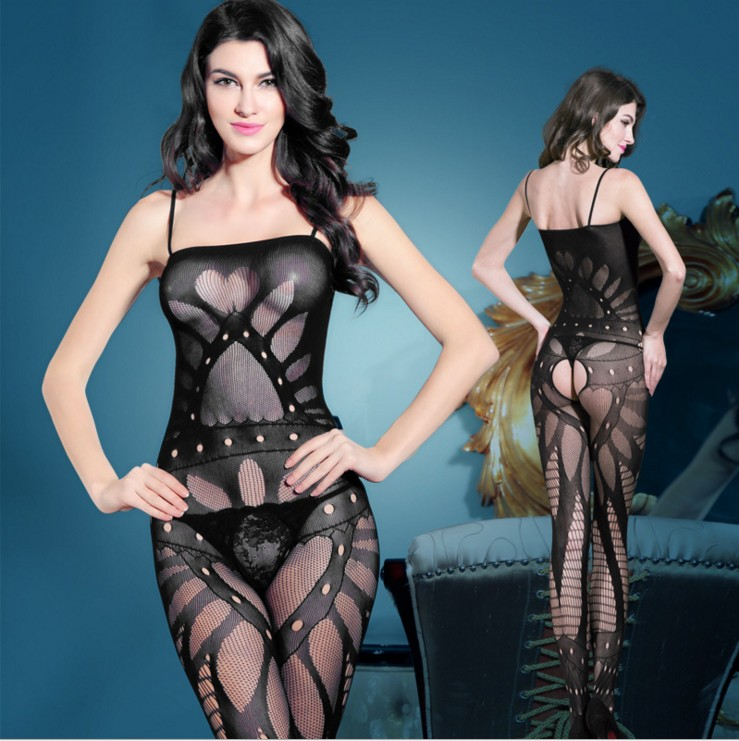 Buy sex lingerie suit Open crotch pajamas fishnet lace body suit, seamless underwear lace body stocking,women stripper clothes 8814