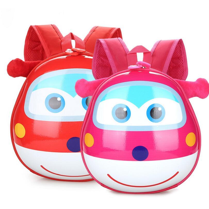Kids Baby Cartoon School Bags 3D Super Wings Jett Backpack For Kindergarten Girls Boys Cute Schoolbag Children's Gift