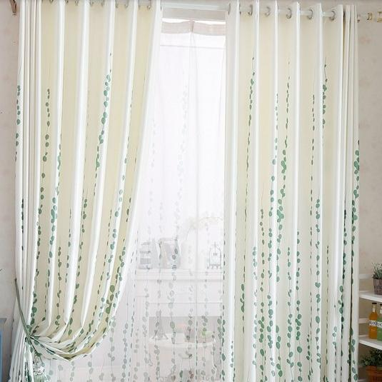 Green curtain full shade blackout curtain blind for bedroom window treatments