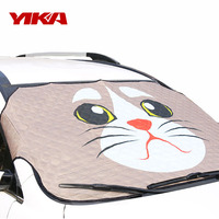 Yi Ka Cartoon Car Windshield Cover Auto Car Windscreen Snow Ice Frost Dust WindShield Roof Mirrors