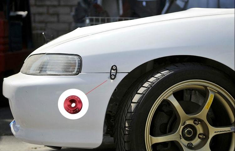 2x BRIDE Quick Release Silver Fasteners Car Bumpers Trunk Fender Hatch Lids JDM