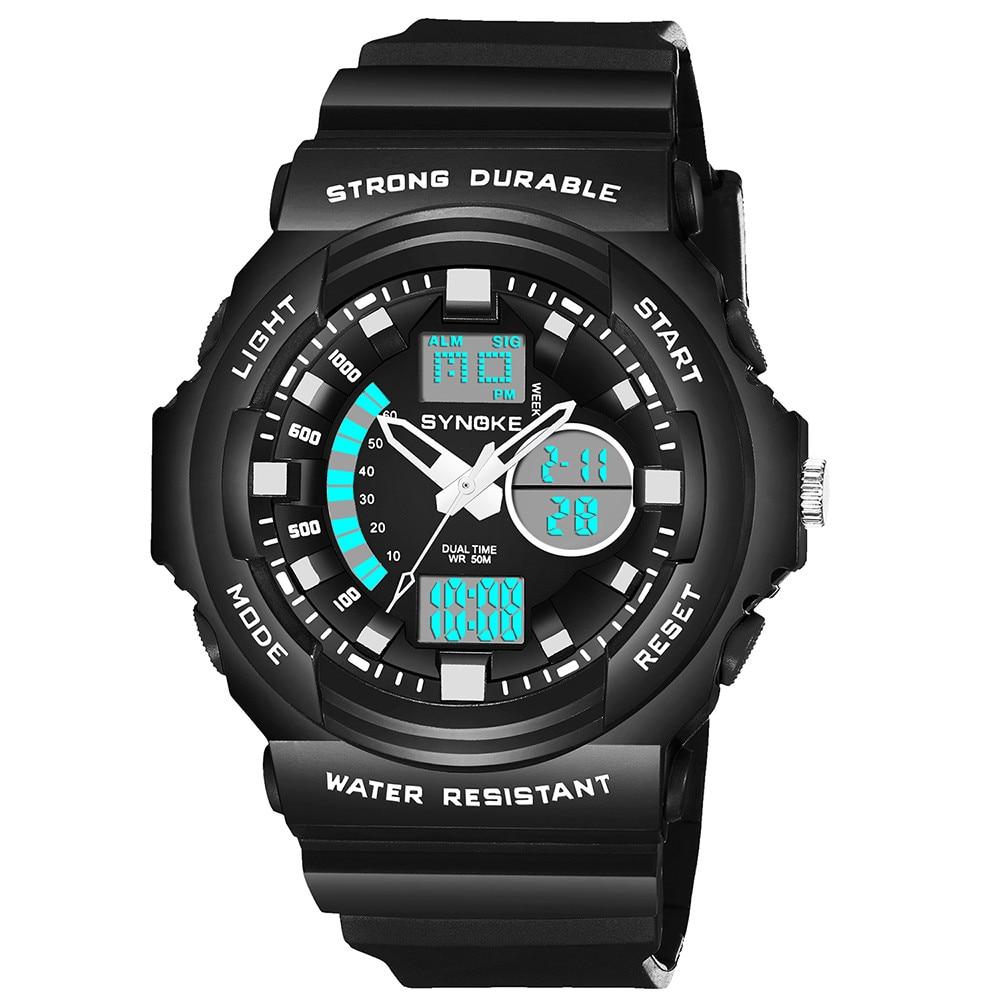 Uhren WunderschöNen Synoke Multi-funktion 50 Mt Wasserdichte Uhr Led Digital Double Action Uhr Sport Uhr Digitale Uhr Montre Homme Reloj Herrenuhren
