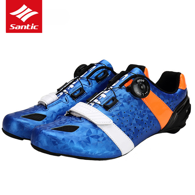 Santic Road Cycling Shoes Ultralight Carbon Fiber Professional Road Bike Shoes Auto-Lock Bicycle Shoes Sapatilha Ciclismo