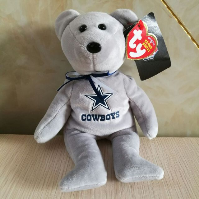 15CM Ty BEANIE BABIES DALLAS COWBOYS PLUSH TOY CUTE DOLL SOFT KIDS  CHRISTMAS NEW YEAR GIFT STUFFED DOLL f9f4a0ded