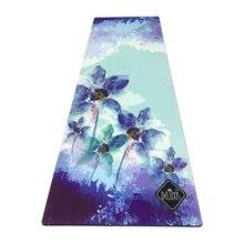 183 см * 61 см * 3,5 мм натуральный каучук впитывает пот окружающей среды удобные замшевые ткани Нескользящая терять упражнения Коврик для йоги