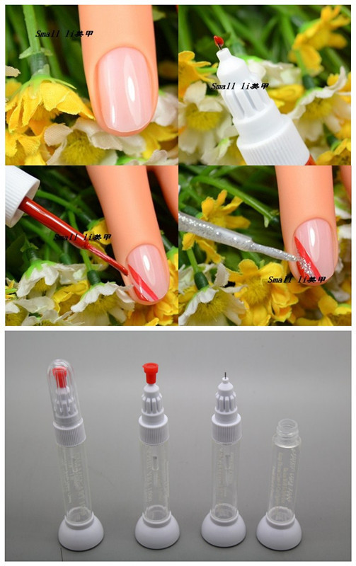 Kimcci free shipping dotted pendrawing pen nail art tool 2 in 1 kimcci free shipping dotted pendrawing pen nail art tool 2 in 1 needle brush dual use nail polish pen empty bottle 100pcslot in dotting tools from beauty solutioingenieria Gallery