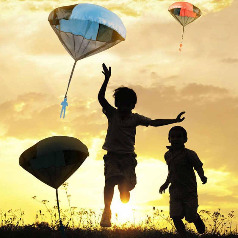 Tukato mão jogando mini jogo soldado paraquedas brinquedos para crianças ao ar livre diversão esportes infantis educativo paraquedas jogo