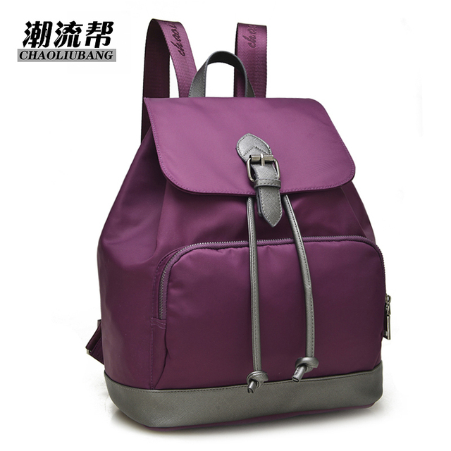 28bf48a83c 2019 New black purple Blue waterproof nylon women backpack ladies College  Style travel for girls Shoulder bag backpacks