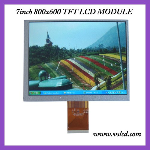 7inch tft lcd display LCM A070SN02 800*600 resolution high brighness led backlight7 4:3 TFT LCD display