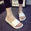 2016 Hot sale mulheres chinelo sólida selvagem senhoras verão de alta qualidade abrir toe mulheres cunhas sapatos para as mulheres sapatos da moda BT485