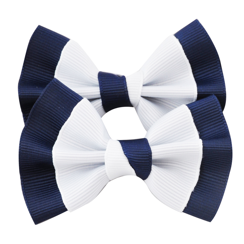 1 Pc 3 Inch Kids Barrettes Grosgrain Ribbon Hair Bow Clip For School Hair Accessories Kids Bowknot Hairgrip Headwear Hairpins