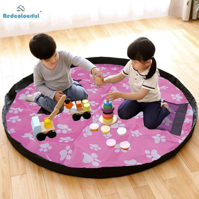 Redcolourful Foot Image Children Play Toys Storage Bag Floor Activity Mat Portable Simple Toy Multi- & Redcolourful Foot Image Children Play Toys Storage Bag Floor ...