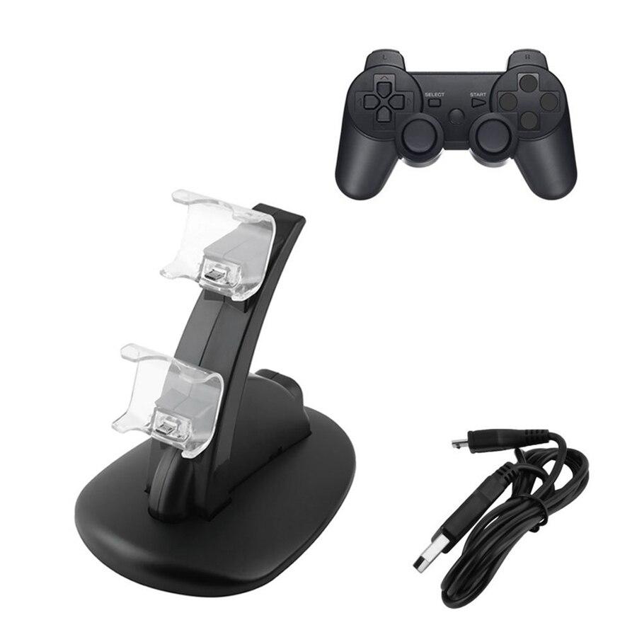 Doppio LED Caricatore USB Charging Dock Stand Stazione per Sony PS4 Playstation 4 giochi Controller console di Gioco joystick accessori
