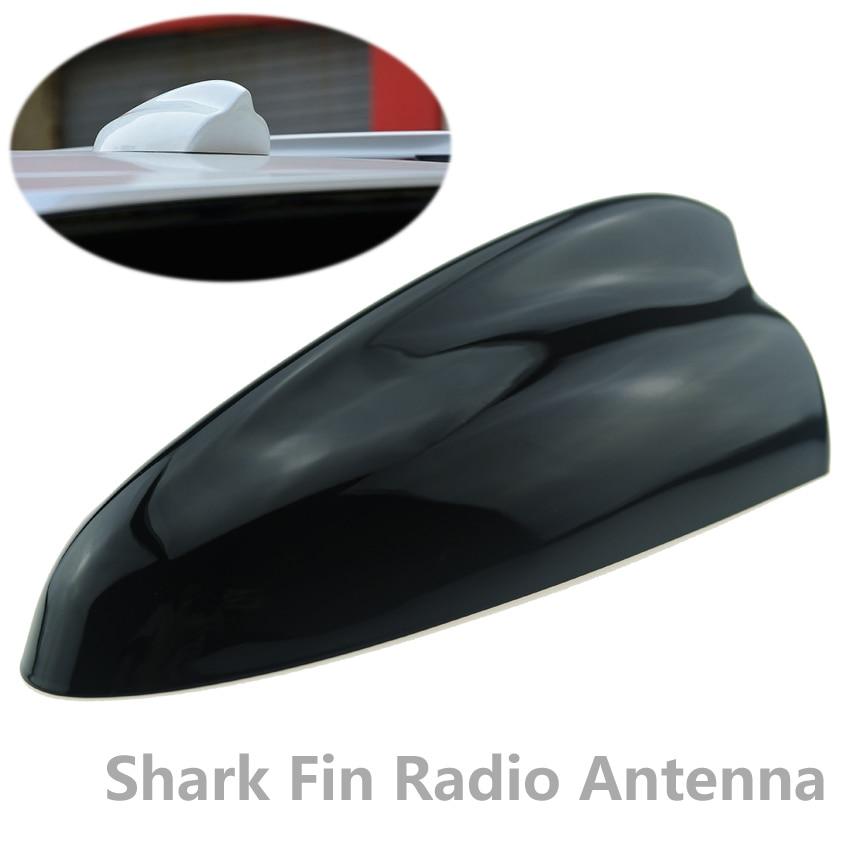 цена на 1pcs Car Shark fin Antenna for Hyundai Santa Fe ix45 Auto Radio Aerials Flat Roof Rear Antenna Sharkfin Black White Silver