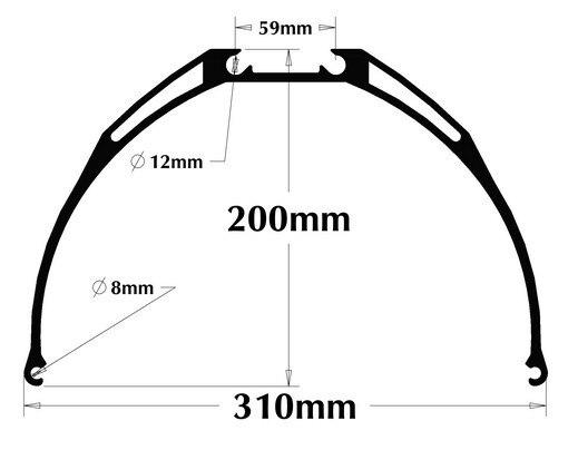 200mm High Landing Skids (Suit for T12 Camera Tilt) for Multicotper