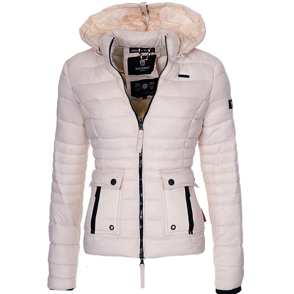 ZOGAA Women Winter Parka Warm Overcoat Puffer Jackets And Coats Fashion Slim Fit Solid Casual Hooded Coat Outwear Women Parkas