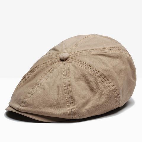 NUZADA British Style Flat Cap Visor Caps Cotton  Women Men Unisex Beret Hats Spring Autumn Retro Solid Color Boina Islamabad