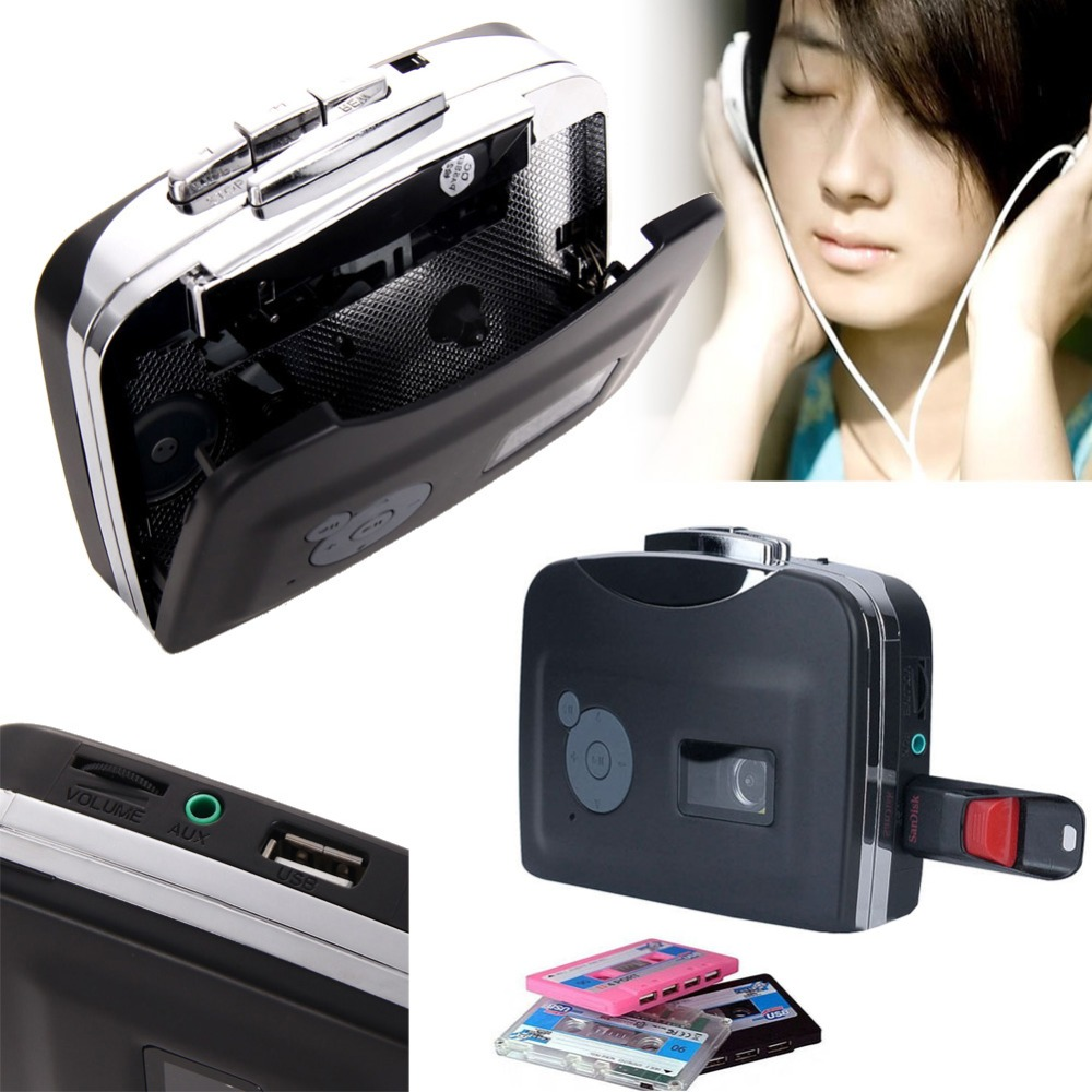 EZCAP Super Old Cassette to MP3 Converter Capture Audio Music Walkman Player Tape into USB Flash Drive/Flash Memory/pen drive