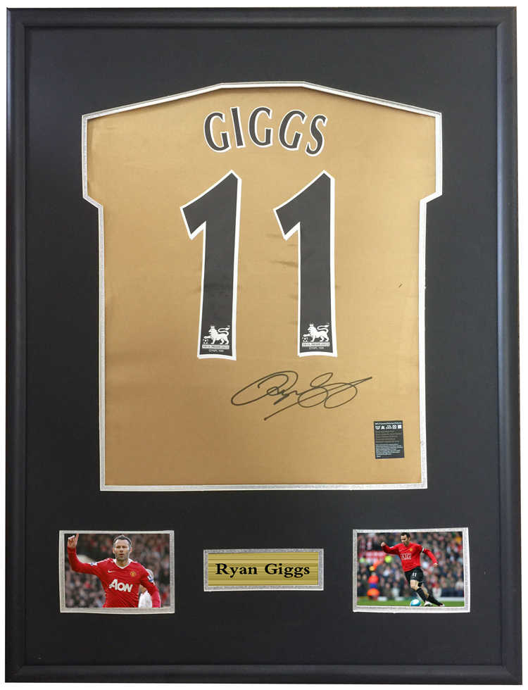a184bbc1349 Ryan Giggs signed autographed soccer shirt jersey come with Sa coa framed