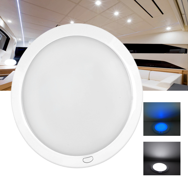 "8.5"" Dimmable LED Cabin Dome Light Blue Mood Ambiance"