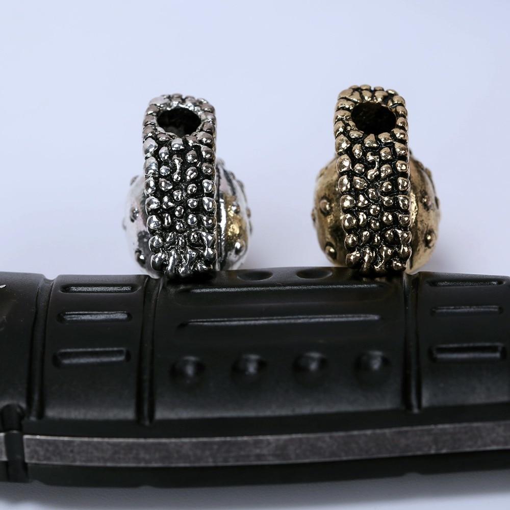 Paracord perle metalne čari lubanje za paracord narukvicu pribor - Kampiranje i planinarenje - Foto 4