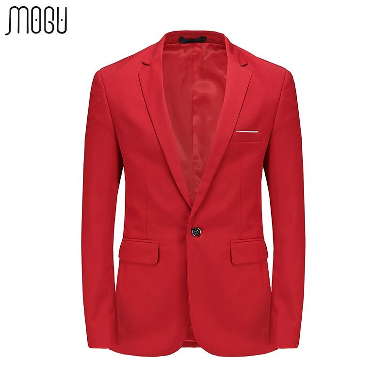 MOGU Pure Color Blazer hombres Slim Fit vestido de novia para hombre 2017 primavera nueva moda Solid Casual Blazer tamaño asiático Blazer hombres