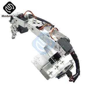 Image 5 - ROT3U 6DOF Aluminium Robot Arm Mechanical Robotic Clamp Claw for Arduino Silver