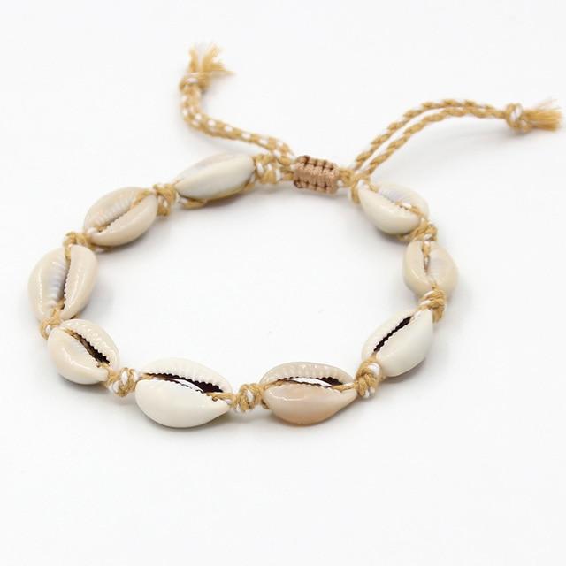 Bracelets de cheville bohème coquillage 1