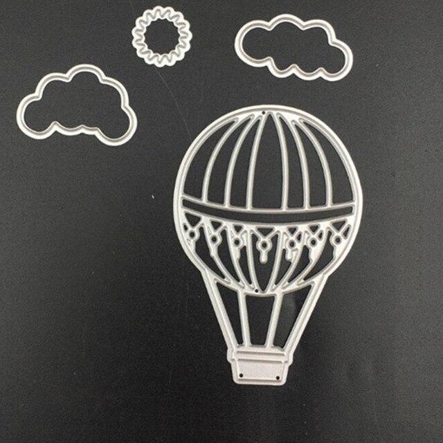 Us 2 59 Metall Stahl Schneidemaschine Stirbt Schablone Heißluftballon Handwerk Geschnitten Stirbt Für Diy Scrapbooking Album Papier Karte Foto Deco