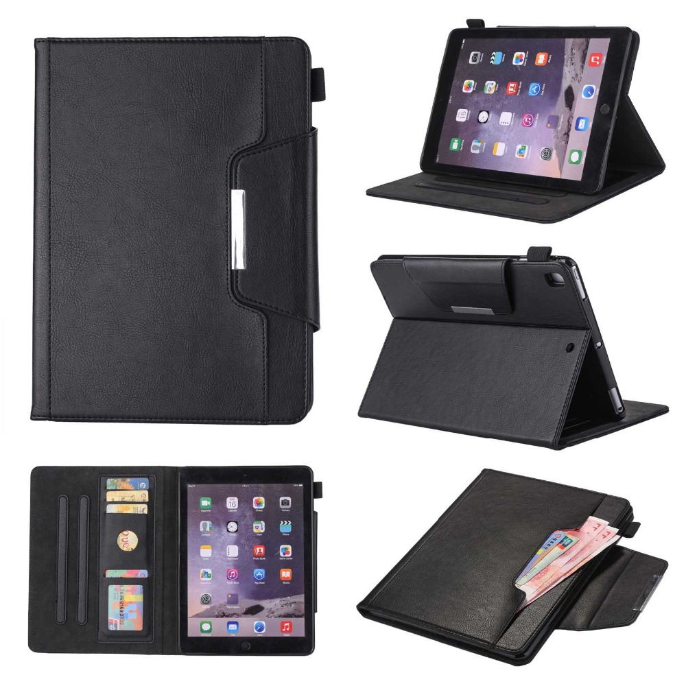 Business Style Flip Smart Cover for iPad Air 2 Premium PU Leather Magnetic Stand Case for iPad Air iPad 9.7 Tablet 2017 2018