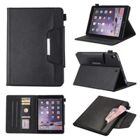 Business Style Flip Smart Cover For IPad Air 2 Premium PU Leather Magnetic Stand Case For