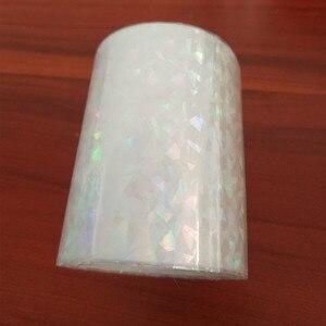 Image 3 - Bộ 2 cuộn Trong Suốt toàn Phương Lá Nóng dập giấy báo nóng trên giấy hoặc nhựa 8cm x 120m nhiệt dập phim