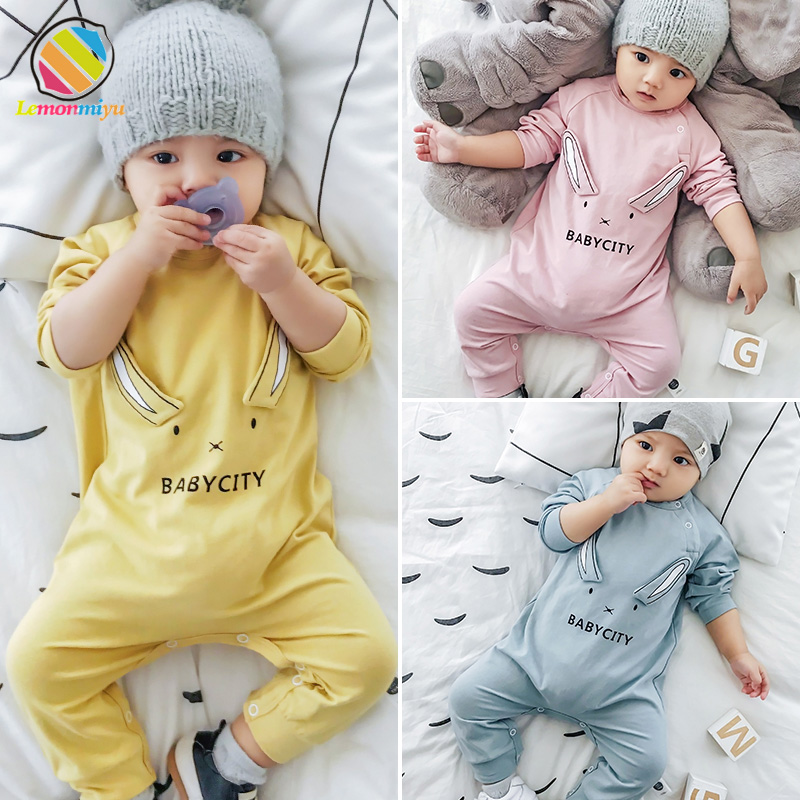 Lemonmiyu Baby Clothes For Newborns Cartoon Cotton 2019 Spring Baby Girl   Rompers   Full Sleeve 0-3T Jumpsuits Cute Baby Overalls