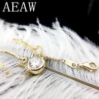 Solid 14K 585 Yellow Gold 3 Carats ct F Color Moissanite Diamond Bezel Bracelet For Women Test Positive