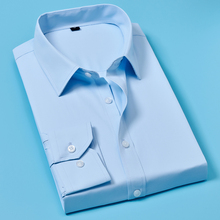 2019 Men Casual Long Sleeved White Shirt Sleeve Business Shirts Brand Clothing Soft Comfortable