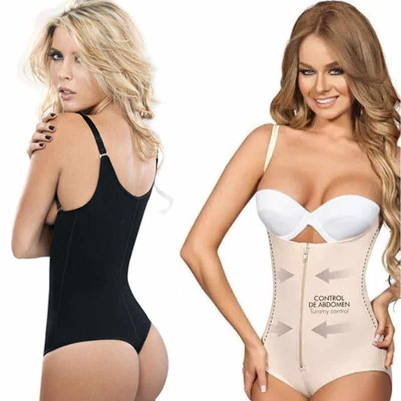 47a1656d7f Detail Feedback Questions about NINGMI Strap Bodysuit Shaper Latex Rubber  Waist Trainer Cincher G string Thong Women s Postpartum Zipper Hook  Underwear ...