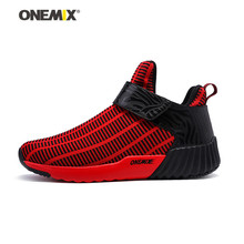 Onemix men's running shoes women sports sneakers hook & loop zebra sneakers for outdoor walking trekking jogging lovers shoes